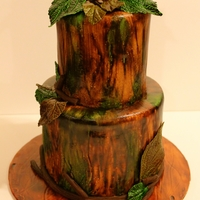 Camouflage Wedding Cake Assignment: A mini wedding cake for a hunter couple who are getting married outside in the woods. Considering I live in a log cabin in the...