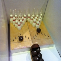 Bowling Themed Cake Pops