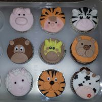 Childrens Animal Cup Cakes Childrens animal cup cakes