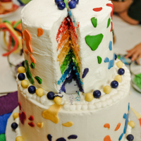 Paint Party Cake Lots of layers