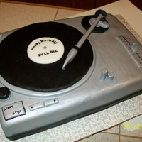 Turntable Cake For a popular DJ in NYC.