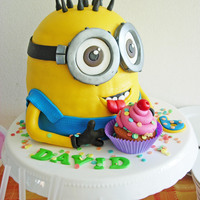 Minion Cake For Our Sons Birthday D Minion cake for our son's birthday. :D