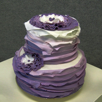 My Own Birthday Cake I made myself a purple Maggie Austin style birthday cake. I loved it, it was so easy and pretty.