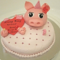 Piggy Head Cake Thanks for the inspiration from cake centre, I did this cake in a very short time,so a lot of details still need to improve.