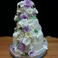 Purple And White Cake Made For A Friends Vow Renewal Purple and white cake made for a friends vow renewal.