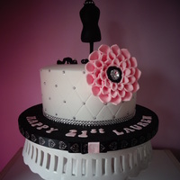 Fashion Inspired Birthday Cake Was asked to create a 21st birthday cake for a girl who was studying fashion. the client wanted a very simplistic cake, but pretty. this is...