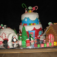 Christnas Cake   i'm beginer...for this cake i take my idea here...but i dont i dont remember the name of the baker....