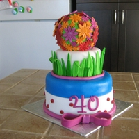 Flowers Cake my sister b day cake,rk sphere