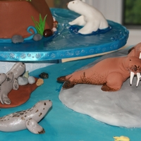 Aquarium Cake for my 5 years old,she very love''l,aquarium de quebec''