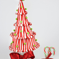 A Lollipop Christmas Tree 3D Candyland Christmas Tree Cake Peppermint Candy