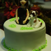 Figurine Made From Modelling Chocolate Dog Topper Made From Fondant Thank You For Looking Figurine made from modelling chocolate, dog topper made from fondant. Thank you for looking