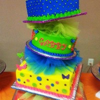 Topsy Turvy Neon Quinceanera Cake Topsy Turvy Neon Quinceanera Cake