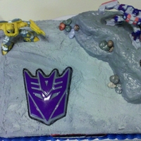 Transformers Cake Made for a set of twins who love all things Transformers.