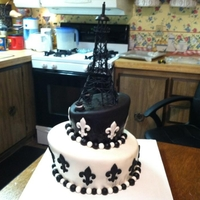 Paris Cake Made for an 18 yr old's surprise party!