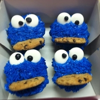 Cookie Monster Cupcakes made fro a friend graduating Law School. She loves cookie monster.