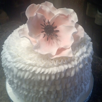 Buttercream Birthday gum paste anenome