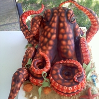 Octopus octopus cake for a summer party. Shout out to Karen Portalew for the inspiration.