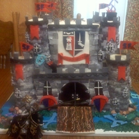 Castle Cake castle cake made to feed 300