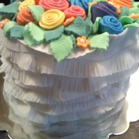 Ribbon Roses birthday cake full of ribbon roses