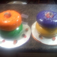 Lifesavers Candy Cake cake was made for an oncology group who is helping my cousin with cancer