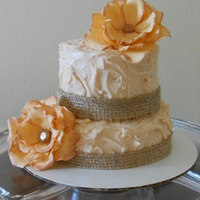 Orange Cranberry Cake Burlap Orange Swiss Meringue Buttercream Sugar Flowers Orange Cranberry cake; Burlap, Orange Swiss Meringue Buttercream, sugar flowers