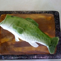 Bass Fish This was my first airbrush project - Oh what fun! The fish is chocolate cake covered in fondant. The board is covered in chocolate and...