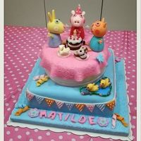 Peppa Pig Cake Peppa Pig Cake for my little princess on her 4th Birthday!