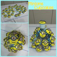 Minions Cupcakes Minions cupcakes for my son on his 7th Birthday Party at School!