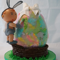 Easter Egg Cake Two Cakes In One Bunny Boy Easter egg cake. Two cakes in one - Bunny Boy