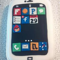 2013 Iphone For Christopher This was a quick cake for my nephew Christopher (13). It was baked in a 13x9 baking dish. He loved it and the ANGRY BIRD was the main focus...