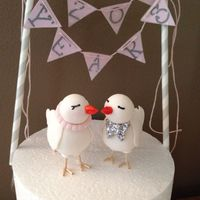 For My 20Th Wedding Anniversary Love Birds Made From Gum Paste For my 20th wedding Anniversary. Love birds made from gum paste.