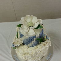 Reunion Cake Dedicated To My Husbands Grandmother Her Favorite Flowers Magnolia Gardenias And Hydrangeas Reunion cake dedicated to my husband's grandmother. Her favorite flowers, magnolia, gardenias, and hydrangeas.
