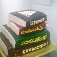 National Honor Society Cake Cake for National Honor Society Induction Each book is a principle of NHS and top book has the NHS symbol on it.