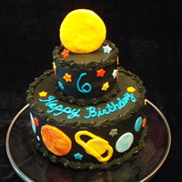 Planets Birthday Cake I made this cake for my son's 6th birthday. It includes all the Planets (and Pluto and the earth's moon) in order of their...