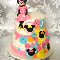Minnie Mouse Cake Inspired By A Cake Seen On Here   Minnie Mouse cake inspired by a cake seen on here :)