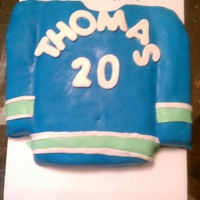 Vancouver Canucks Hockey Jersey This is the cake I made for my boyfriends birthday