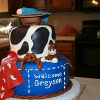 Baby Shower Western Themed Cake