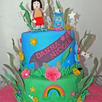 Dora The Explorer For Danna Nicole The cakes are vanilla, chocolate and strawberry, filled with chocolate buttercream and bavarian mousse.