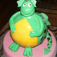 Spotted Dragon Cake is vanilla with bavarian cream filling. Done just for fun.