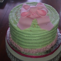 Green/pink Cake For A Soroiety Tea