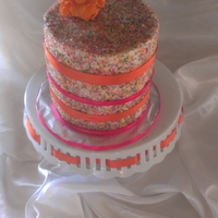 Sprink Cake I love the look of the sprinkle cakes featured here and thought I would practice on a cake for my daughter.