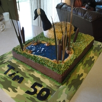 Birthday Cake For A Goose Hunter