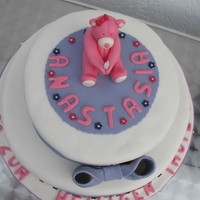 Girls Christening Cake