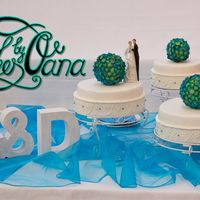 Hydrangea Wedding Cake Hydrangea balls wedding cake..i made over 400 hydrangea for the balls... lots of work but i like the finished cakethanks for looking