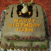 First Fondant, First Tiered, First Camo Birthday Cake This is my first attempt at making a cake covered with fondant (which I made from scratch), a tiered cake, and also a camo-themed cake. I...