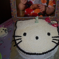 Hello Kitty my first cake. I started all this so I could make my great nieces first bd cake