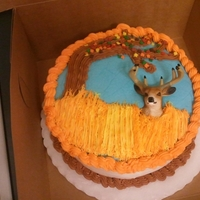 Deer Hunting Cake This was the 2nd cake I made - a hunting scene for my dad's birthday! He loves hunting and the cake was a hit! I really didn't...