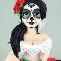 La Catrina   hand made/paited