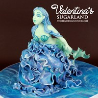 Blue Mermaid Hand Made Of Sugarpaste This is my latest figure out of sugarpaste, that I made for my modelling class in Berlin. Germany