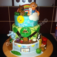 Cbeebies Cake   Mr Tumble Raa RaasBaby Jake Post man pat and mr blooms nursery
